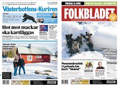 Västerbottens-Kuriren + Folkbladet, Västerbotten